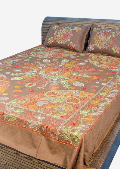 Nakshi Bed Sheet-NBS-026